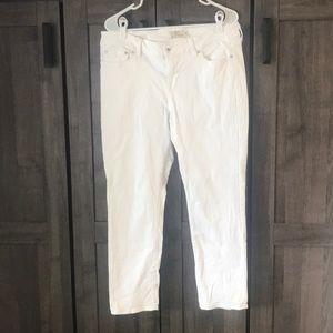 Lucky Brand Women's 14 Lolita Capri White Jean